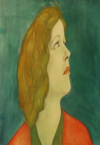 Austin Osman Spare, Green Sidereal Watercolour on paper